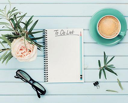 notebook to do list